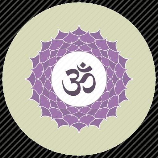 hindi, marathi, nepali, om, sign icon