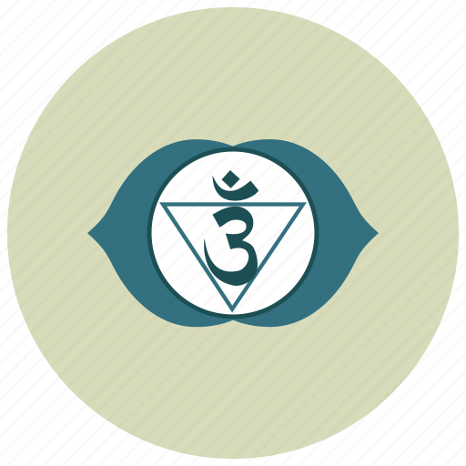 ajna, chakra, meditation icon