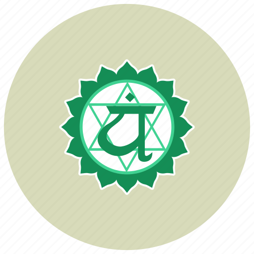 anahata, chakra, meditation icon
