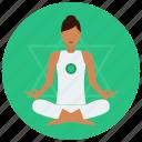 chakra, heart, meditation icon