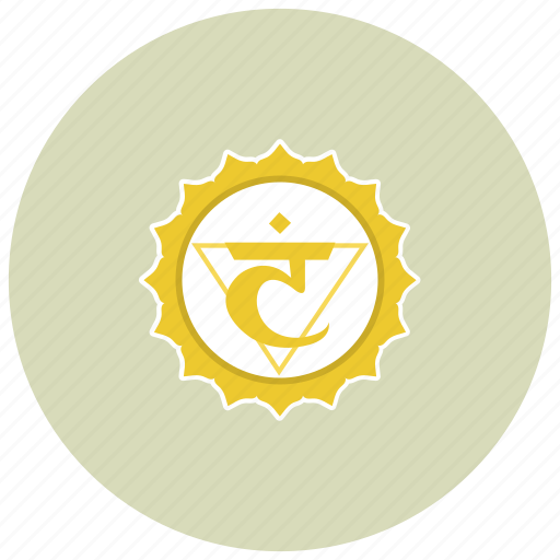 chakra, manipura, meditation icon