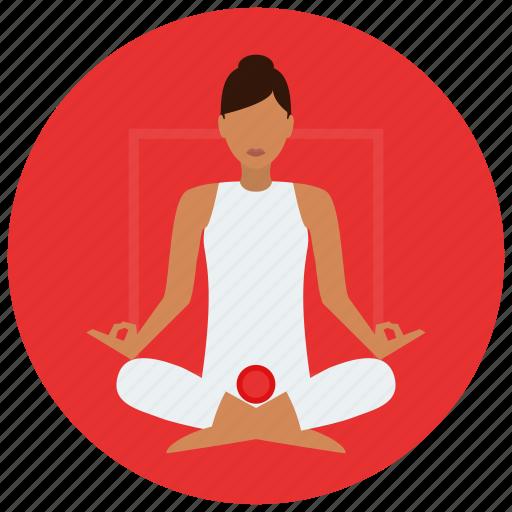 chakra, meditation, root icon