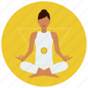 chakra, meditation, plexus, solar icon