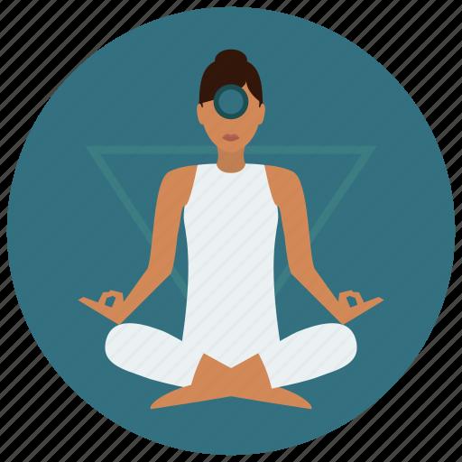 chakra, eye, meditation, third icon