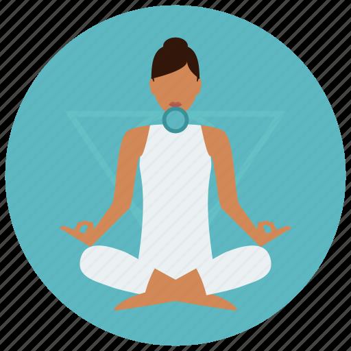 chakra, meditation, throat icon