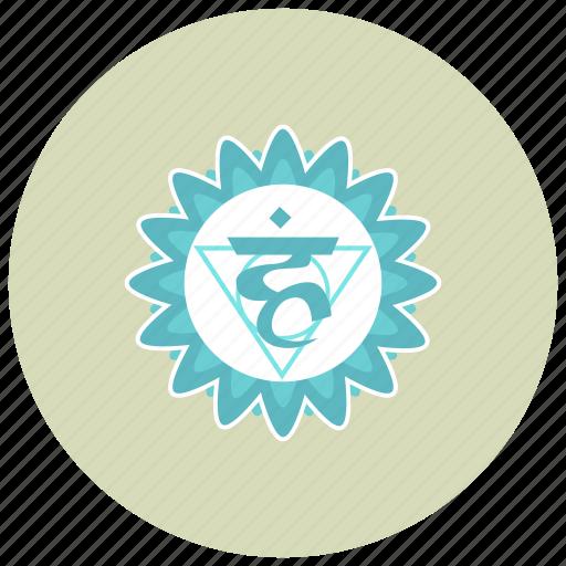 chakra, meditation, vishuddha icon