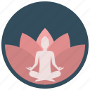 flower, lotus, meditation, yoga icon