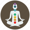 chakra, meditation, relaxation, yoga icon