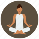 concentration, meditation, pose, yoga icon