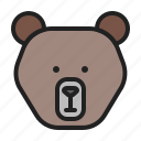 animal, bear, grizzly, mammals, zoo icon