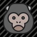 animal, gorilla, king, kong, mammals, zoo icon