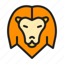 animal, king, lion, mammals, zoo icon