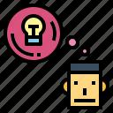 emotion, intelligence, people, thinking icon