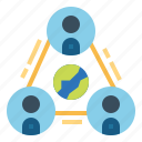 collaboration, group, network, team icon