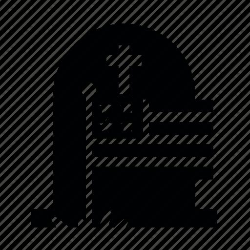 day2, memorial, крест, памятник, трава, флаг icon