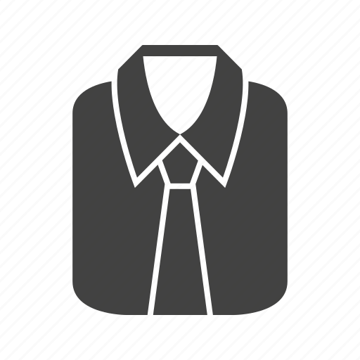 clothes dress fashion formal men shirt sleeve icon