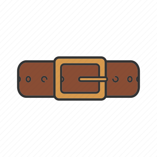 accessory, belt, buckle, fashion, leather belt icon