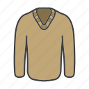cardigan, clothing, jersey, jumper, pullover, sweater, wear icon