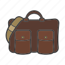 bag, handbag, laptop bag, leather bag, men's accessory, purse icon