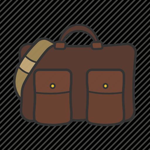 bag, handbag, laptop bag, leather bag, men's accessory, purse icon