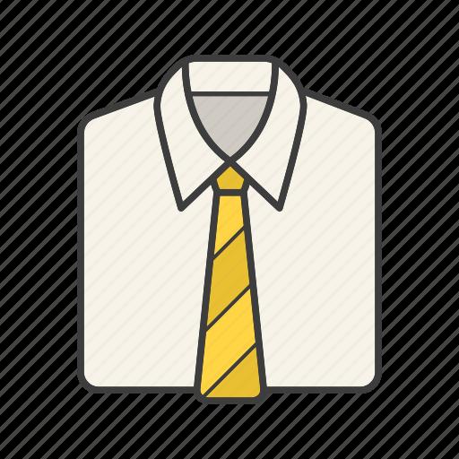 classic, clothing, dress code, necktie, shirt, tie, wear icon
