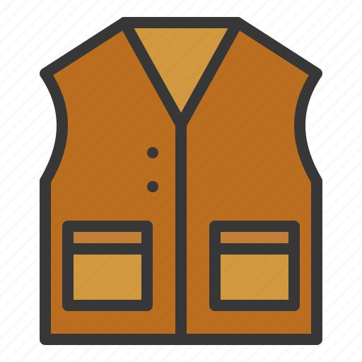 clothes, clothing, fashion, male, men, vest icon