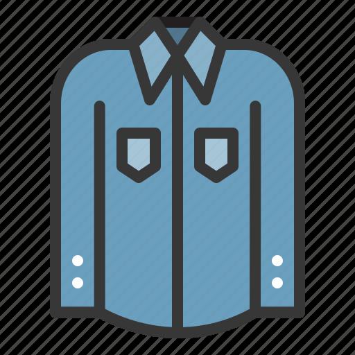 clothes, clothing, fashion, long sleeve shirt, male, men icon
