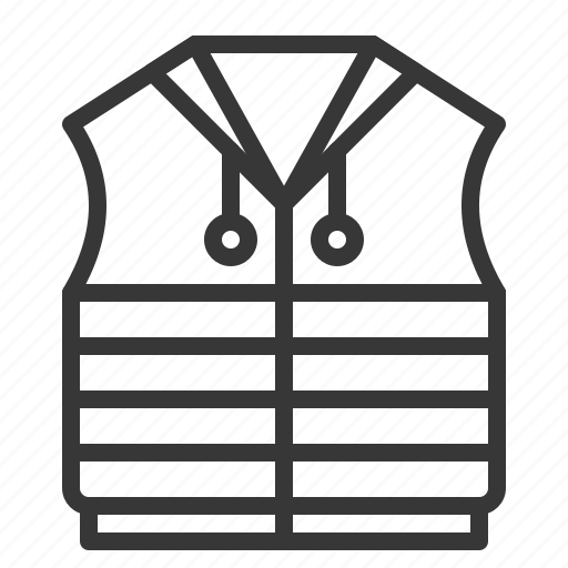 clothes, clothing, fashion, male, men, vest icon