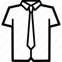 black, shirts, men's clothing icon