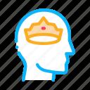cartoon, crown, face, head, man