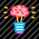 brain, bulb, energy, idea, innovation, lamp, light