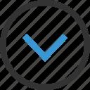arrow, down, downlod, point icon