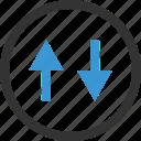 arrows, down, ui, up icon