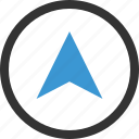 arrow, gps, location, up icon