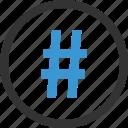 hashtag, pound, sign icon
