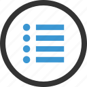 list, menu, options, setup icon