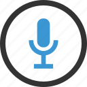 microphone, record, sound icon