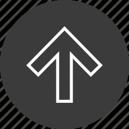 arrow, navigation, ui, upload icon