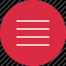 hamburget, lines, menu, setup icon