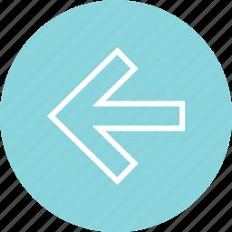 backwards, left, navigation, ui icon