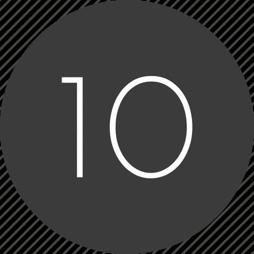 nav, number, ten icon