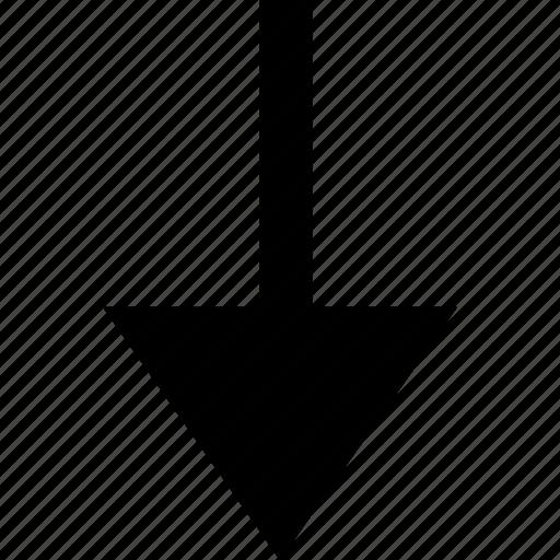 arrow, down, point, pointer icon