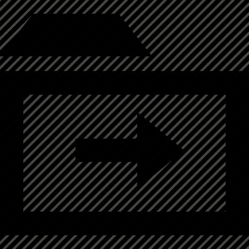 arrow, folder, go, next icon