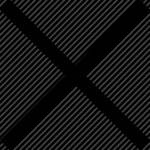 cross, delete, stop icon