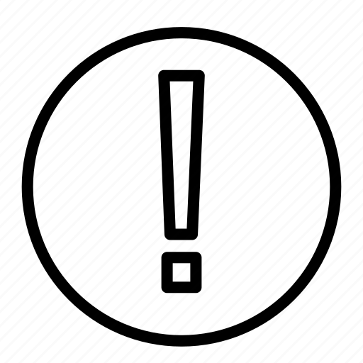 alert, attention, error, menu, warning icon
