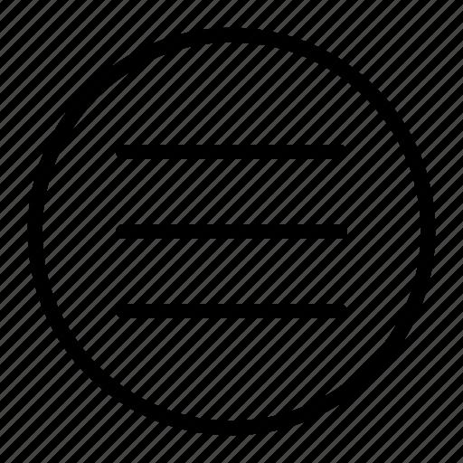 hamburger, list, menu, navigation icon
