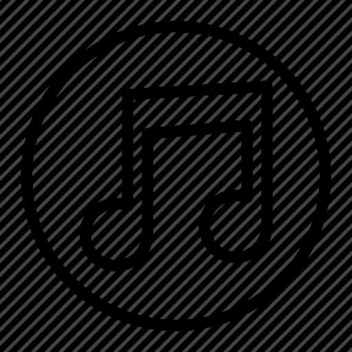 audio, menu, music, note icon