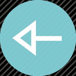 arrow, back, left, nav icon