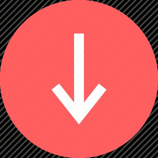 arrow, download, nav icon