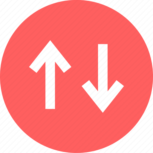 arrows, connect, down, up icon